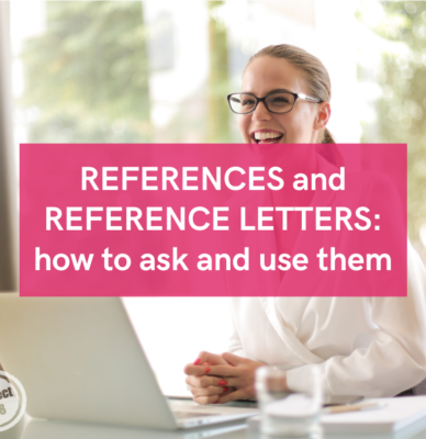 References and reference letters: how to ask and use them
